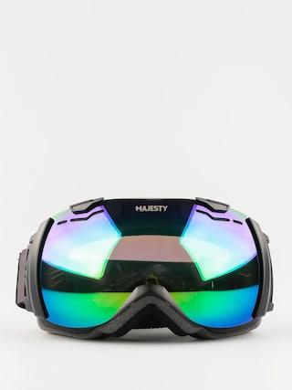 Gogle Majesty Spectrum (matt black/green emerald mirror/clear citrine)