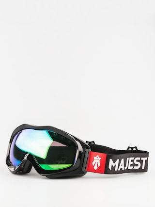 Gogle Majesty Patrol (glossy black/green emerald mirror/clear citrine)