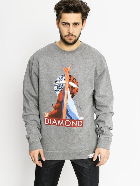Bluza Diamond Supply Co. Diamond Peak (gunmetal heather)