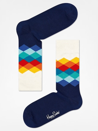 Skarpetki Happy Socks Faded Diamond (navy/white/multi)