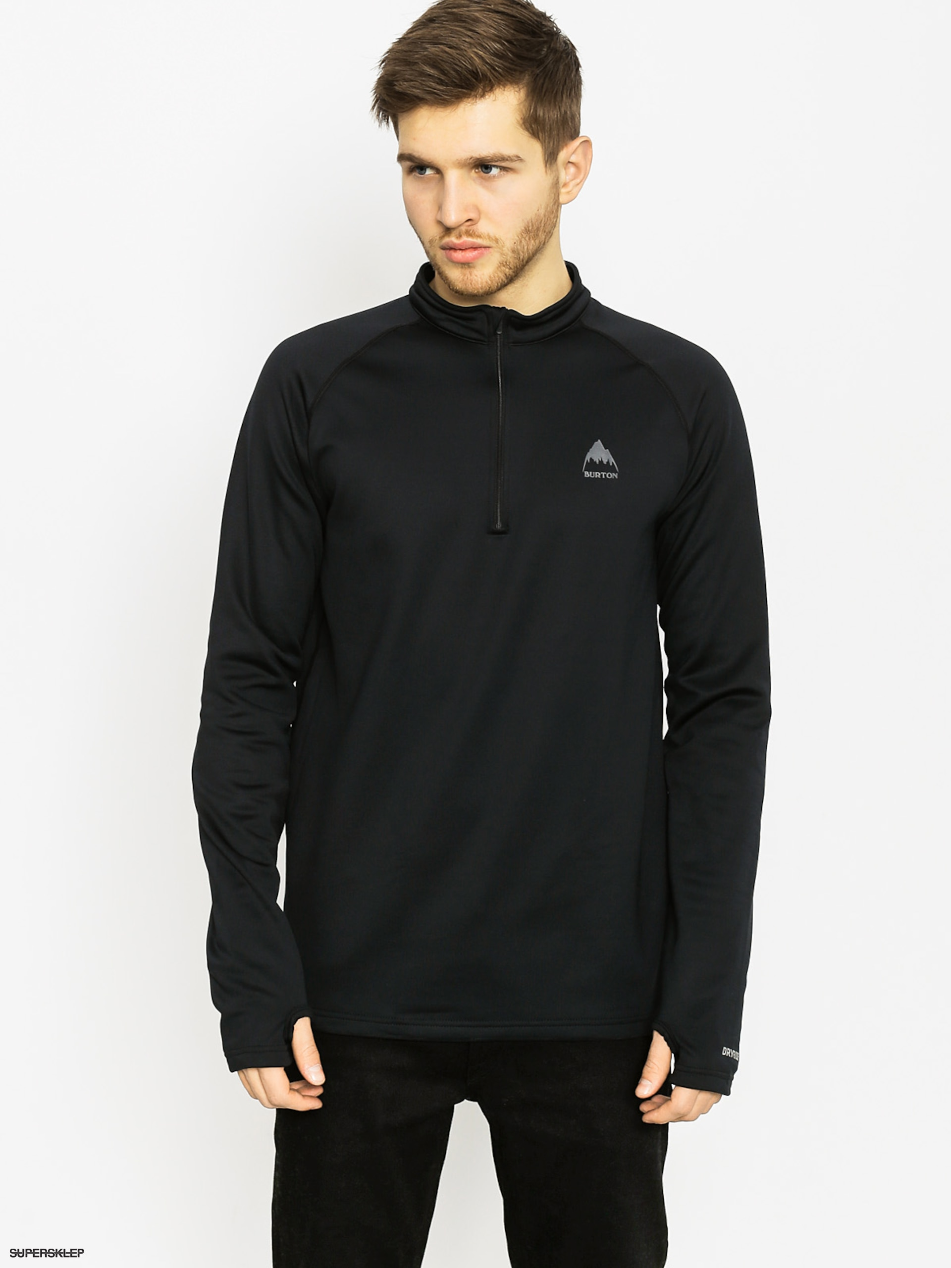 Longsleeve aktywny Burton Expedition 1/4 Zip (true black)