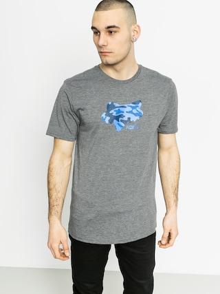 T-shirt Fox Stenciled (heather graphite)