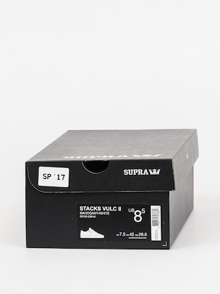 Buty Supra Stacks Vulc II (mahogany white)