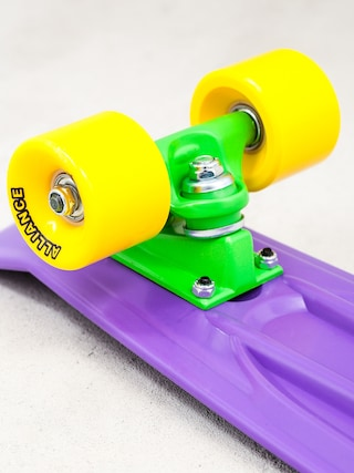Deskorolka cruiser Alliance 01 (purple/yellow/green)