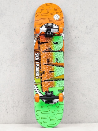 Deskorolka Real Slime Fades (orange/green)
