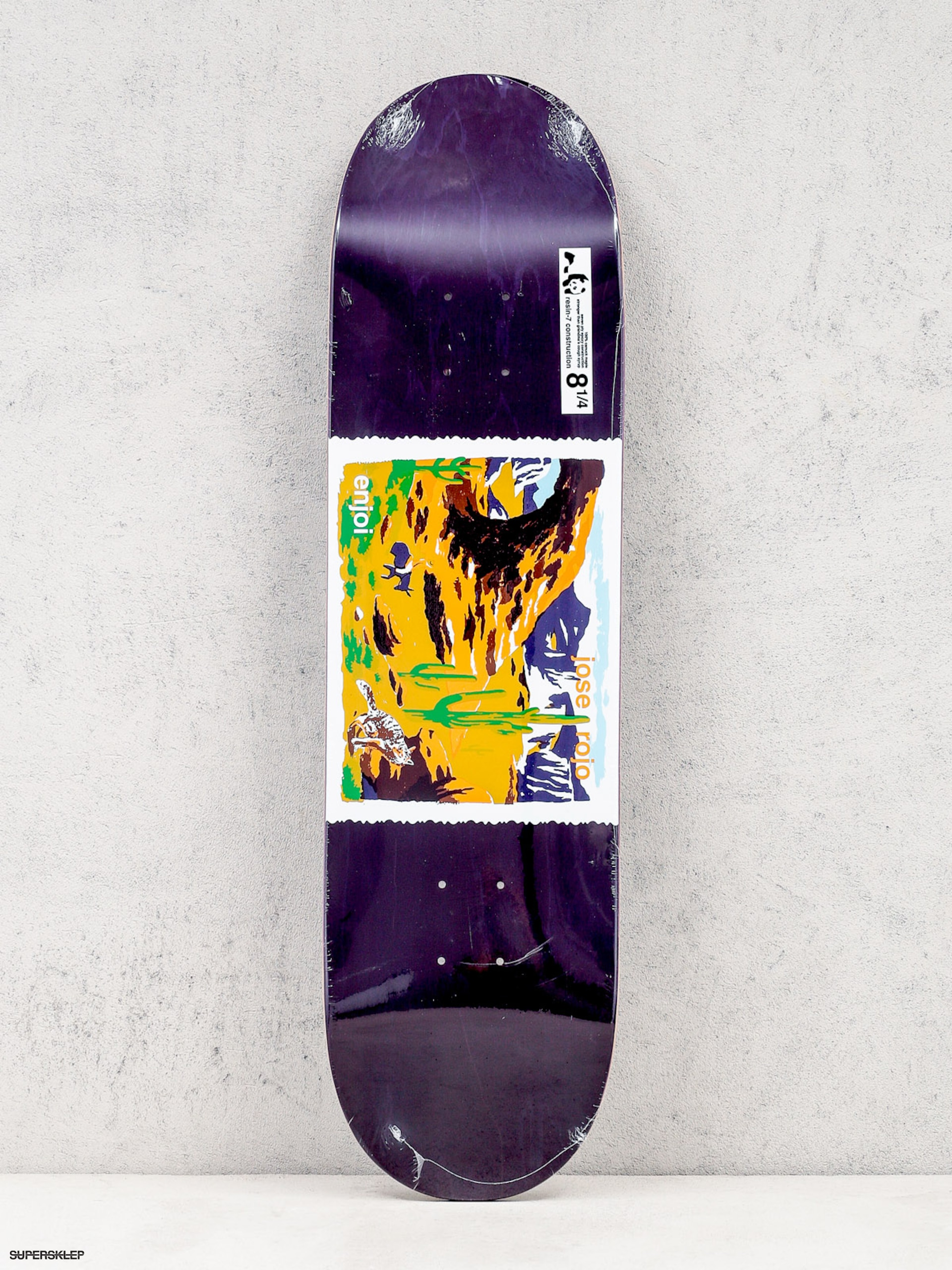 Deck Enjoi Dog Pooper Wild West R7 (dark purple)