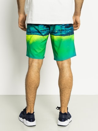 Boardshorty Quiksilver Hold Down Boardshorts (black/teal/yellow)