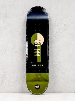 Deck Mob Skateboards Eulen (black/green)