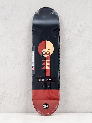 Deck Mob Skateboards Eulen (black/maroon)