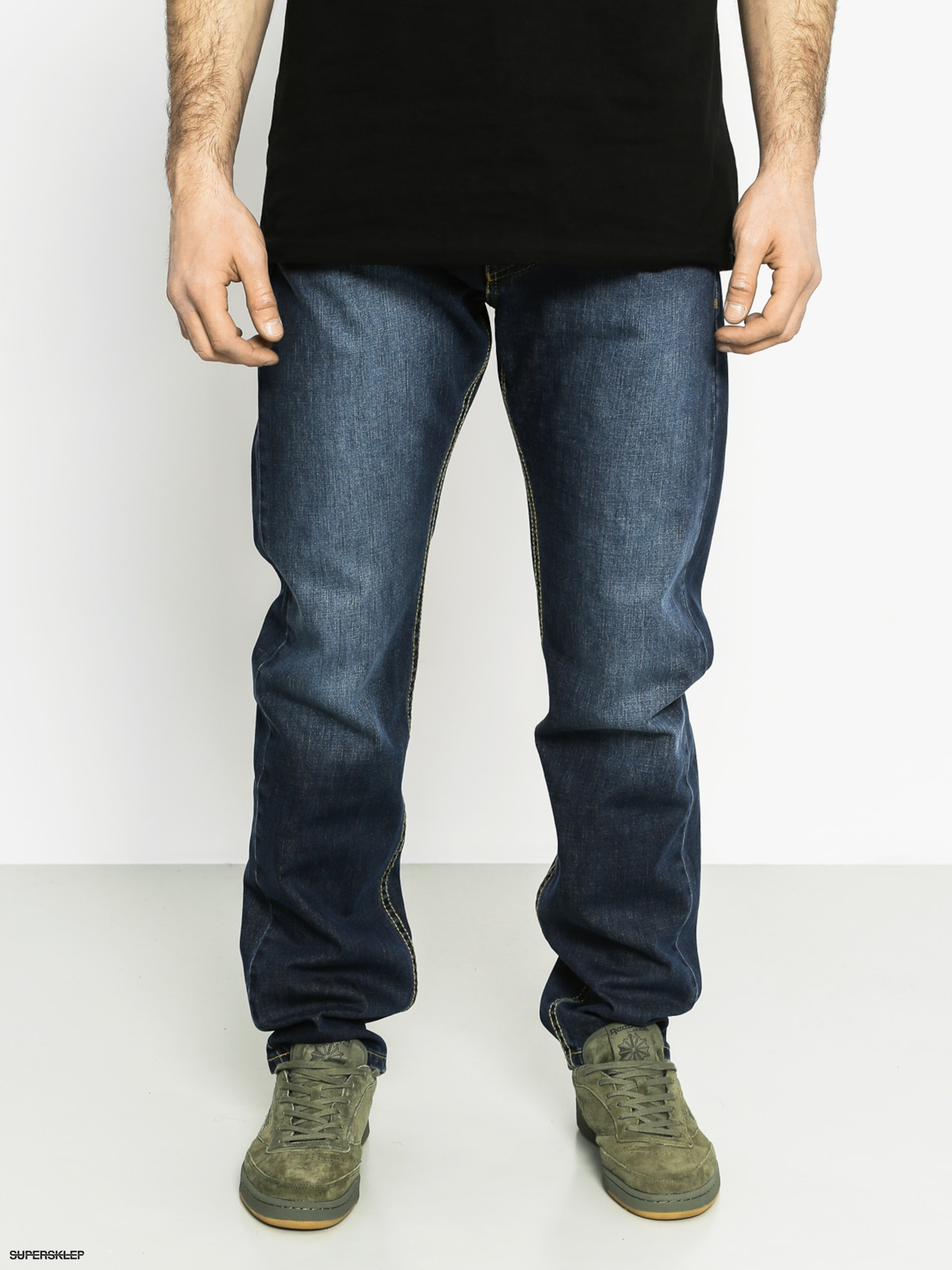 Spodnie MassDnm Classic Straight Fit (navy)