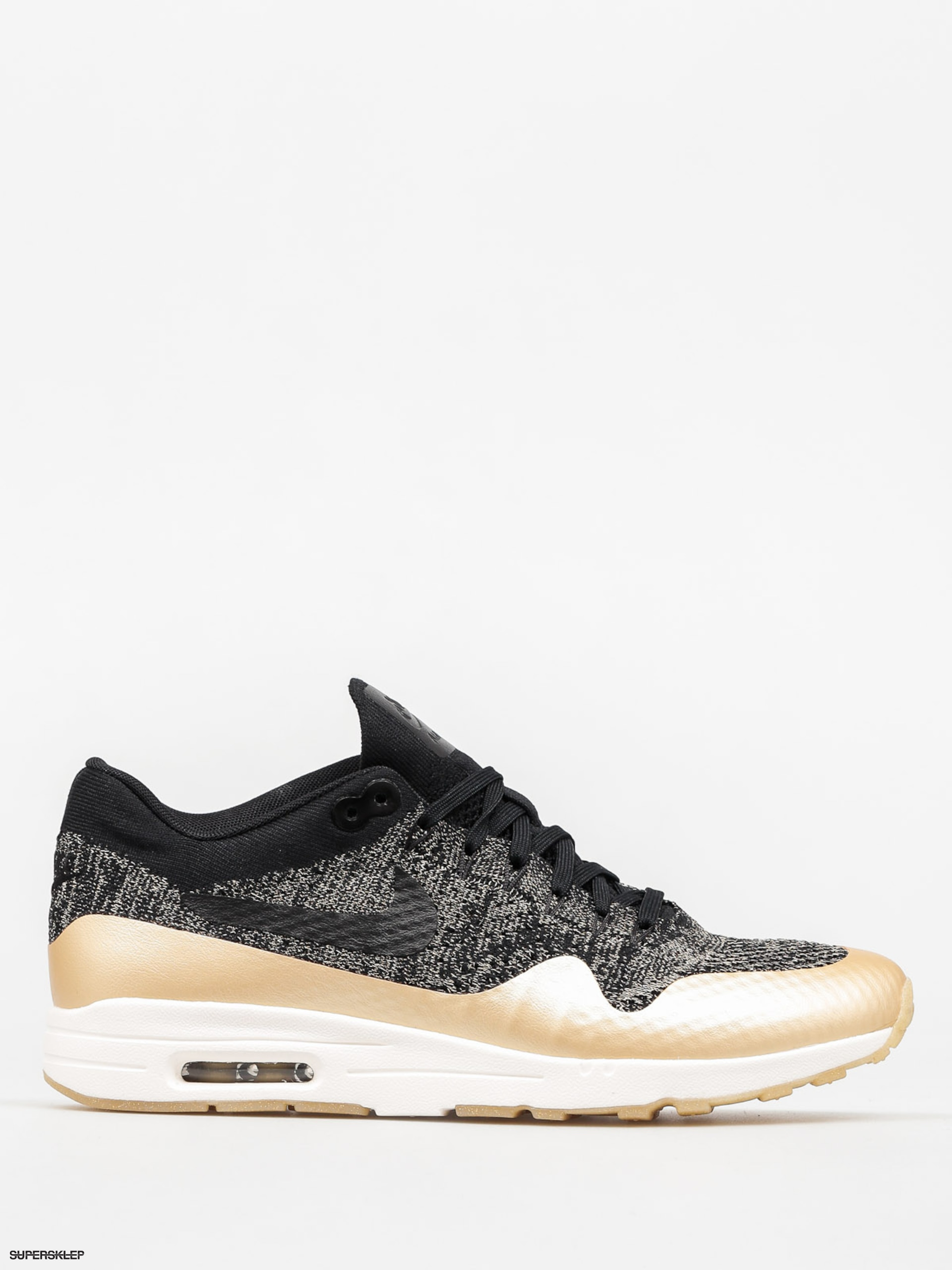 Buty Nike Air Max 1 Wmn (Ultra 2.0 Flyknit Metallic black/black mtlc gold star)