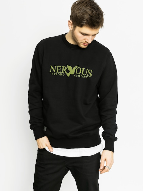 Bluza Nervous Classic Crew (black/olive)