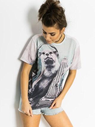 T-shirt Mr. Gugu Animal Beat Wmn (white/teal)