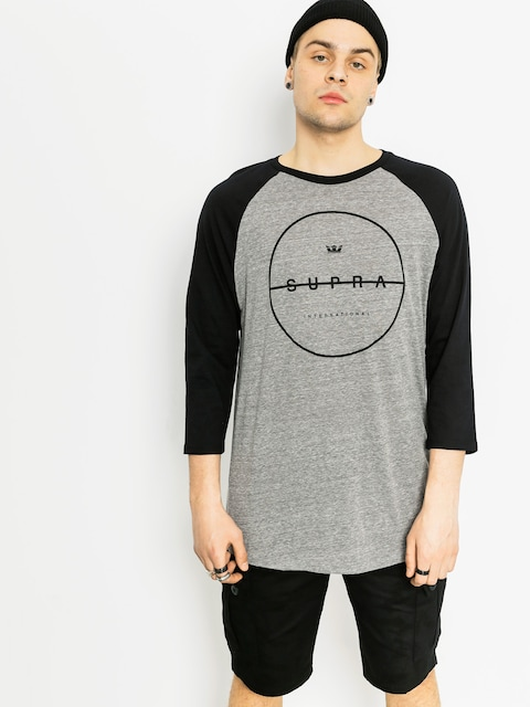 T-shirt Supra Strikeout Prem Rag (grey heather/black)