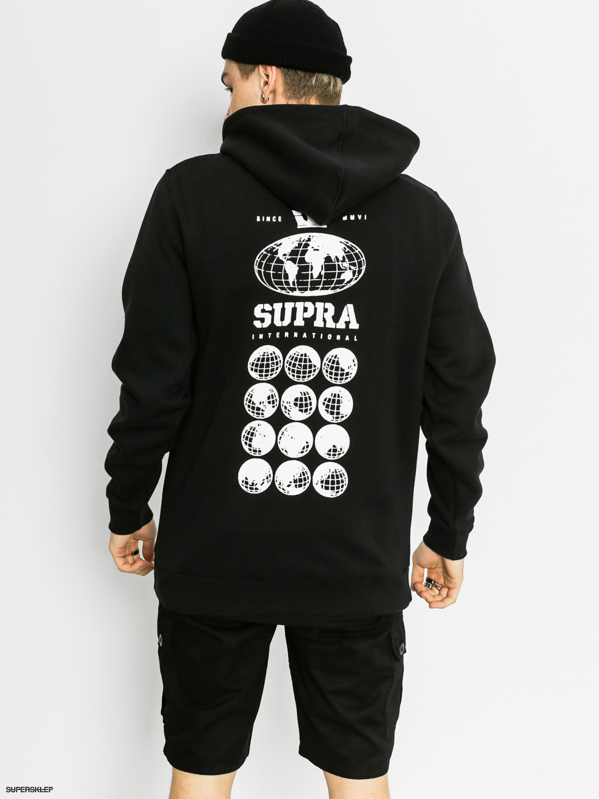 Bluza z kapturem Supra Internations HD (black)