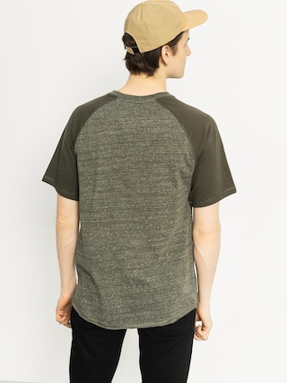 T-shirt DC Enderlin Henley (dark olive heather)
