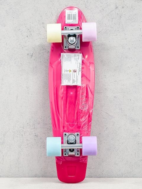 Deskorolka cruiser Playlife Vinyl (neon pink/multicolor)