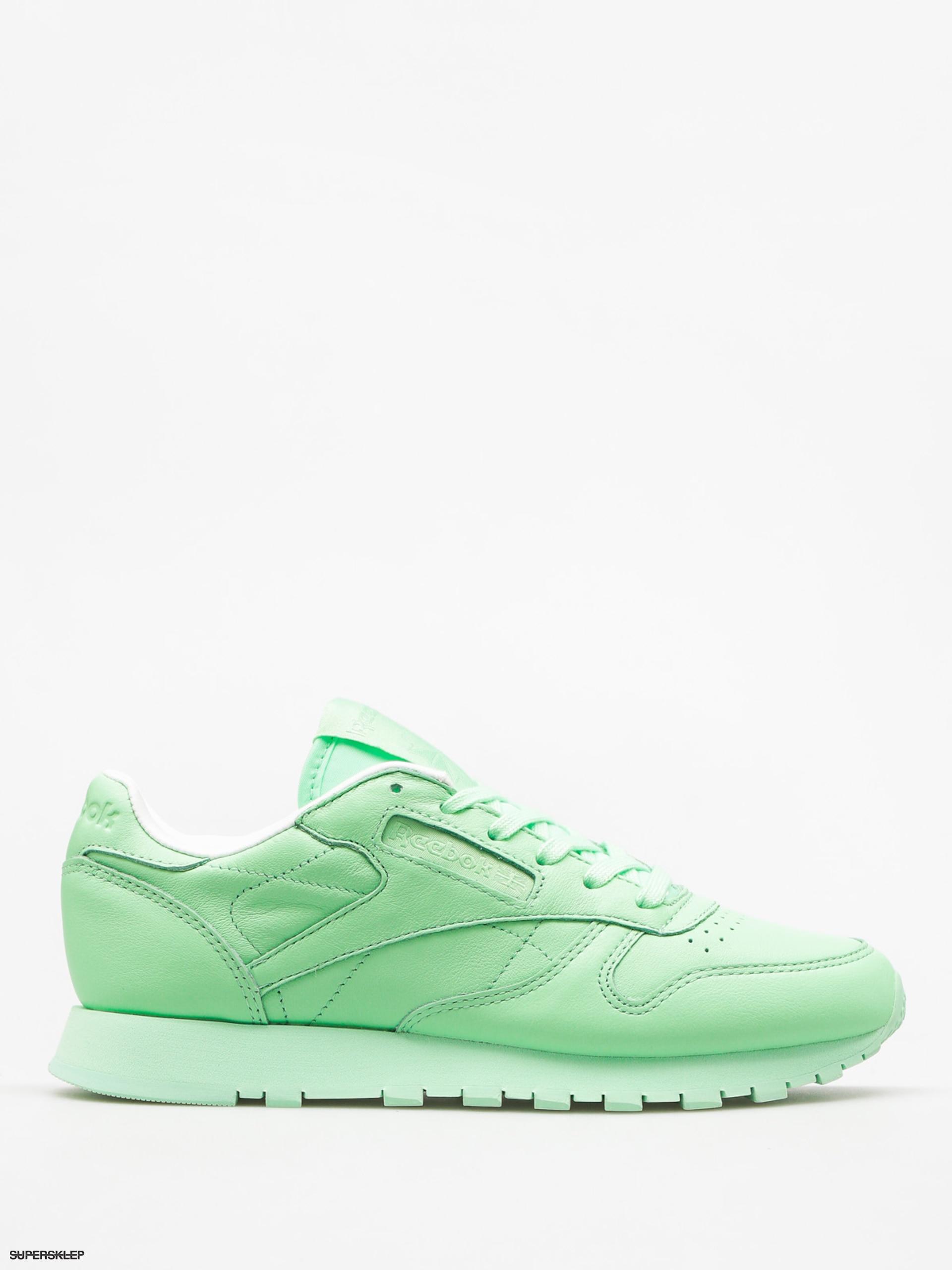 bcb5d7c14154 Buty Reebok Cl Lthr Pastels Wmn (mint green white)