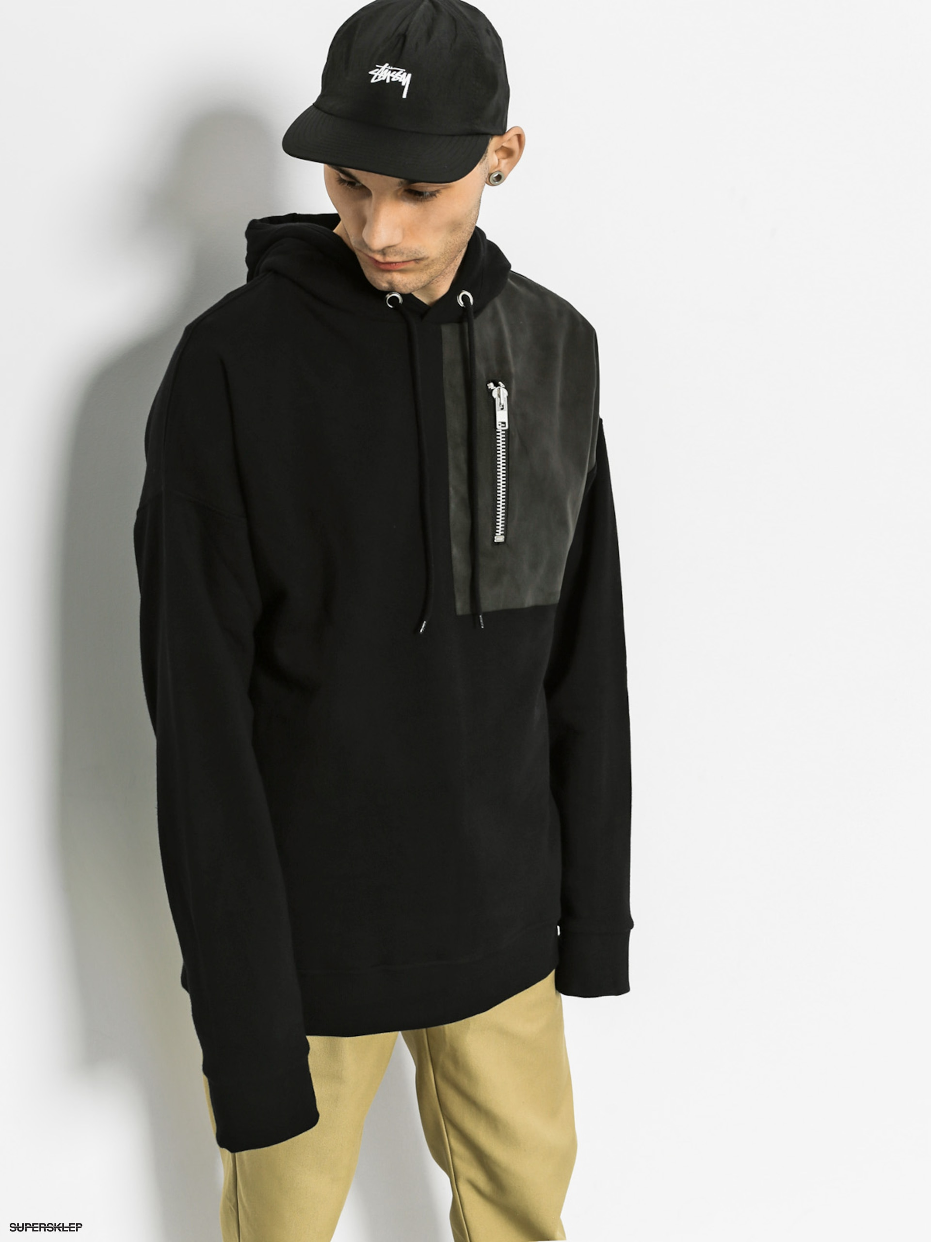 Bluza z kapturem The Hive Ben Zip HD (black)