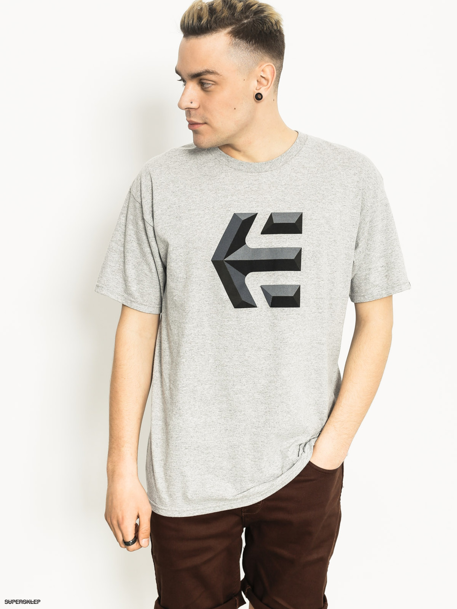 T-shirt Etnies Mod Icon (grey heather)