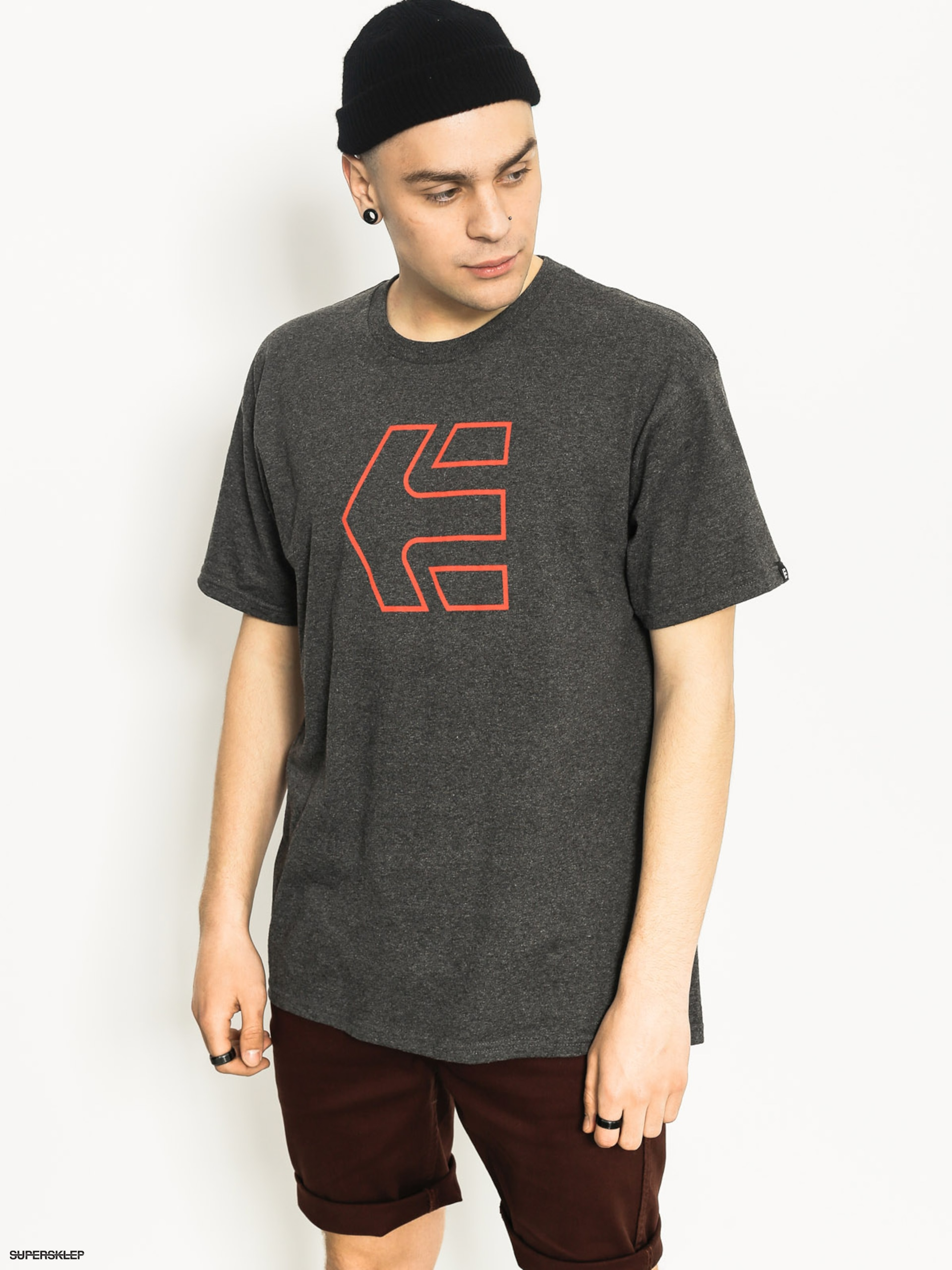 T-shirt Etnies Icon Outline (charcoal heather)