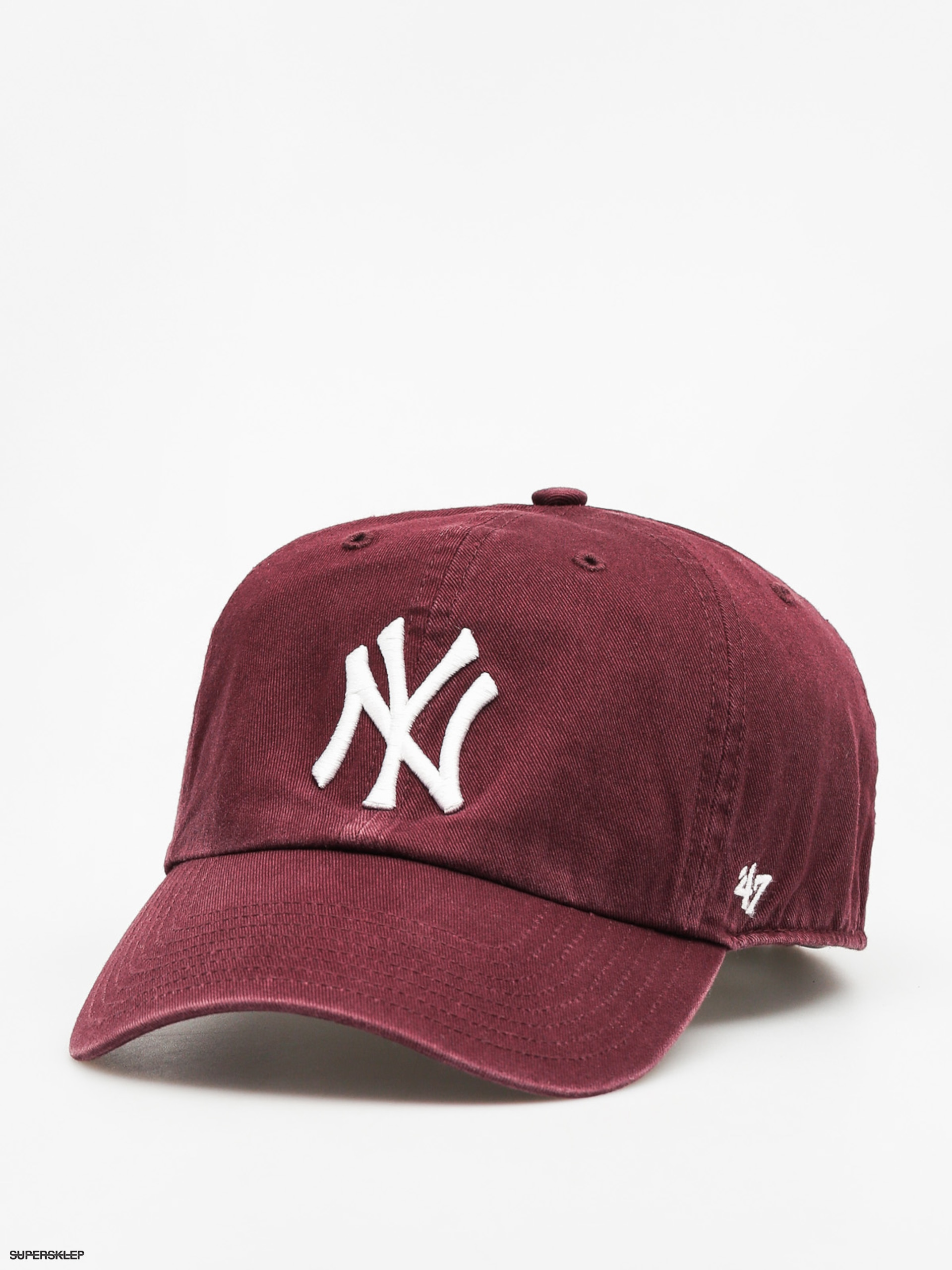 Czapka z daszkiem 47 Brand New York Yankees ZD (washed maroon)