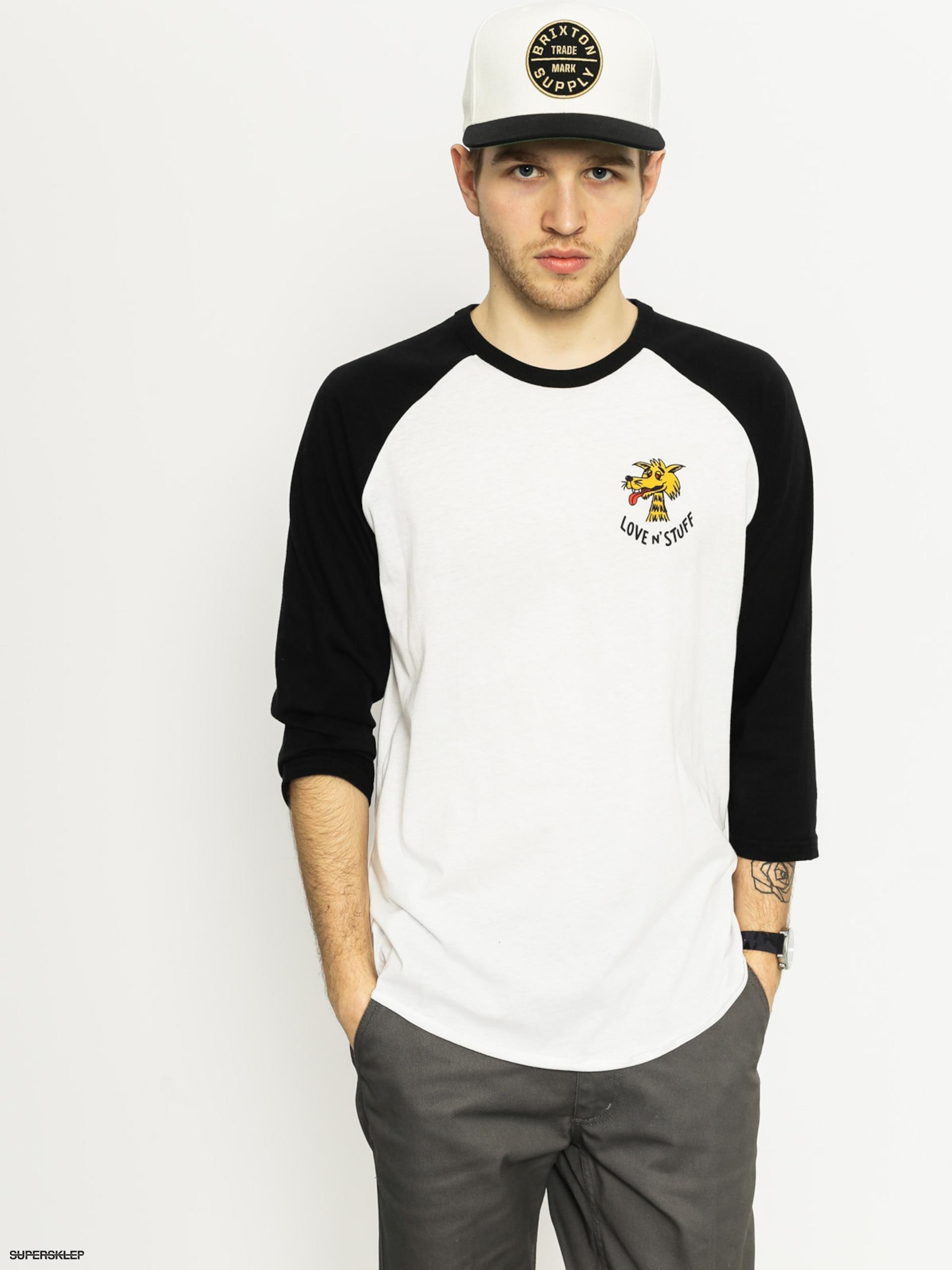 Koszulka Brixton Lovin 3I4 Slv (white/black)