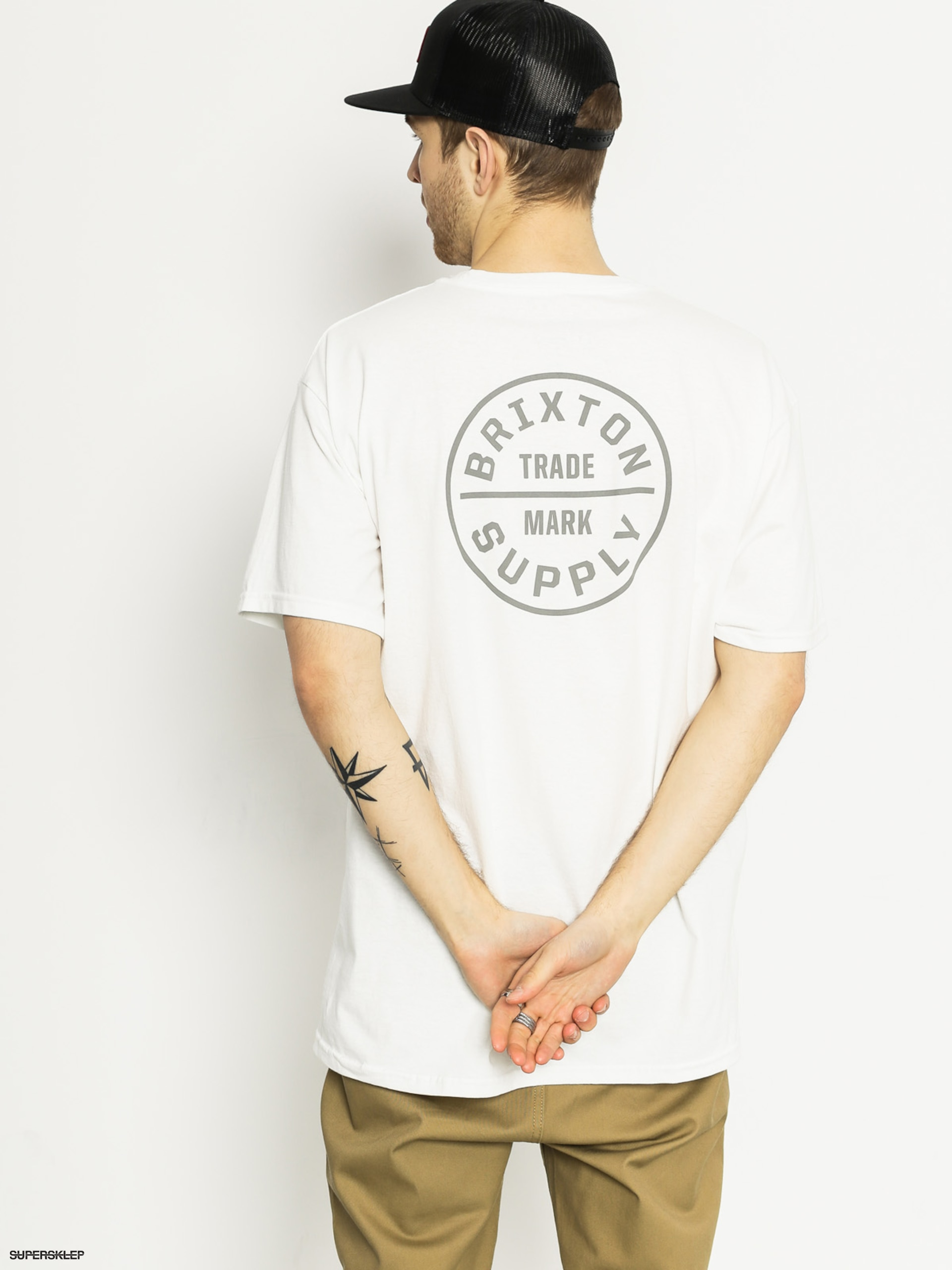 T-shirt Brixton Oath (white/light grey)