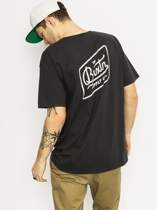 T-shirt Brixton Bedford (washed black)