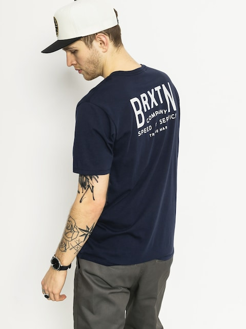 T-shirt Brixton Langley Prem (navy)