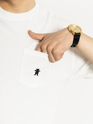 T-shirt Grizzly Griptape Embroidered Pocket (white)