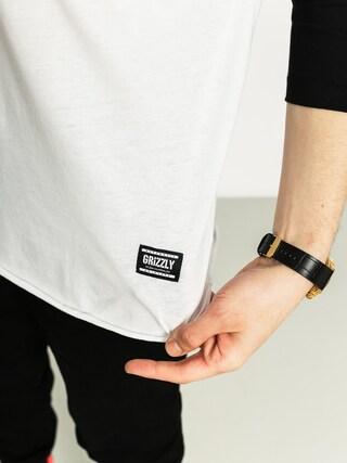 Koszulka Grizzly Griptape Stencil Stamp Raglan (black)