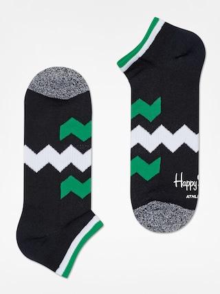 Skarpetki Happy Socks Athletic Zig Stripe Low (black/green/white)