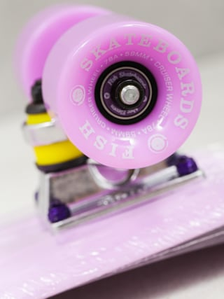 Deskorolka cruiser Fish Skateboards 01 (purple/silver/purple)