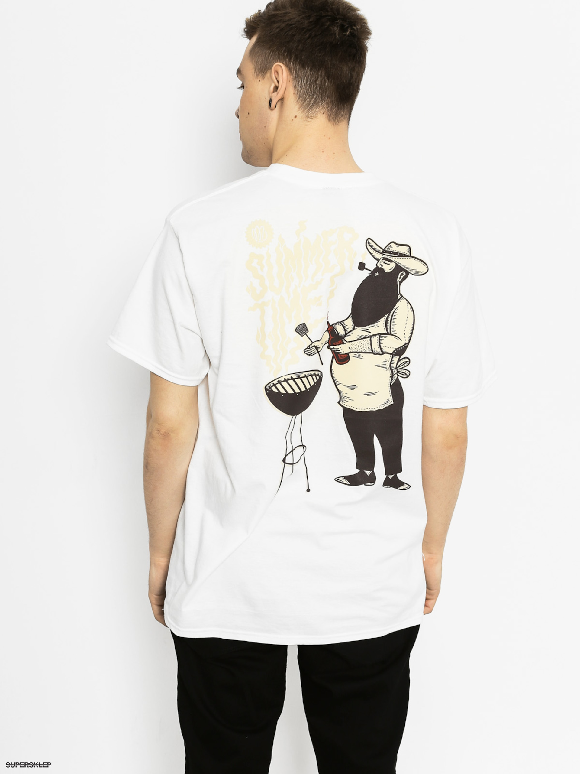 T-shirt Malita Beard And Grill (white)