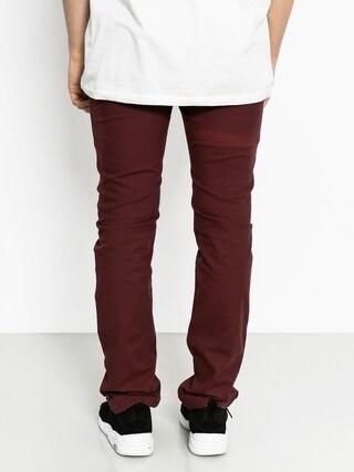 Spodnie Malita Stripes Slim (maroon)