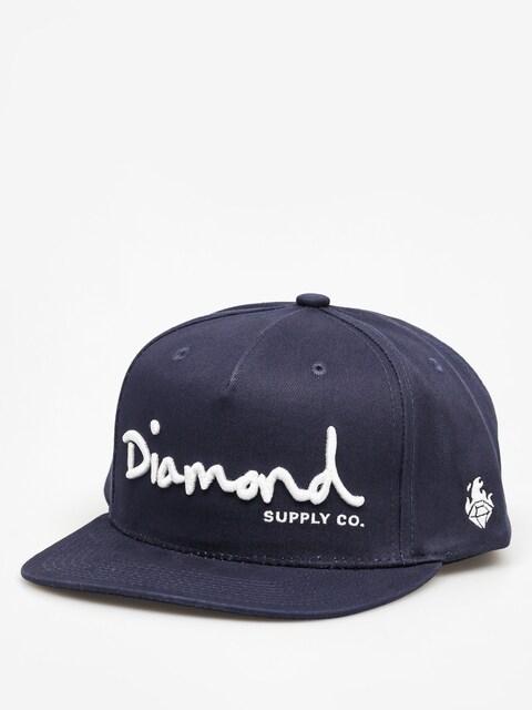 Czapka z daszkiem Diamond Supply Co. Og Script ZD (navy)