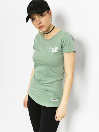 T-shirt Diamante Wear I Slay Wmn (green)