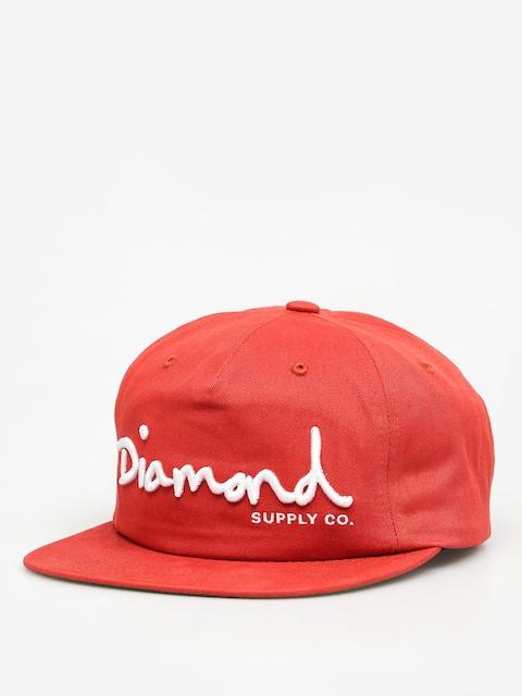 Czapka z daszkiem Diamond Supply Co. Og Script Snapback ZD (red)