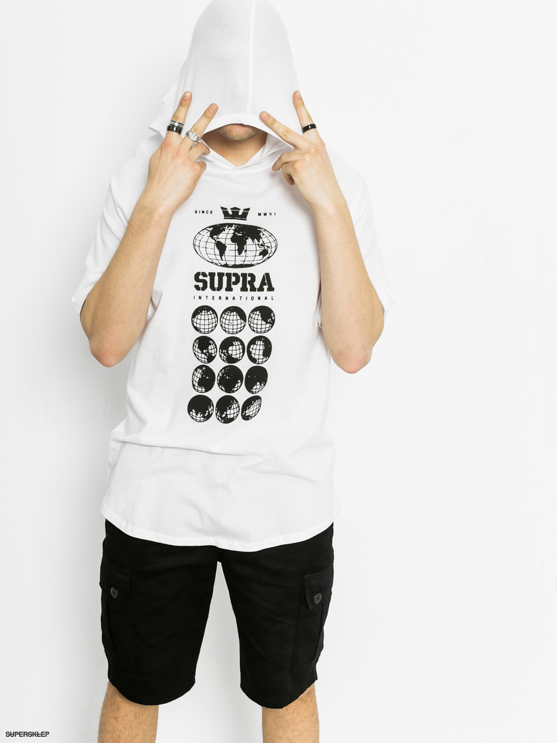 T-shirt Supra Worldwide SIS HD (white)