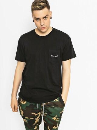 T-shirt Diamond Supply Co. Mini Og Script Pocket (black)