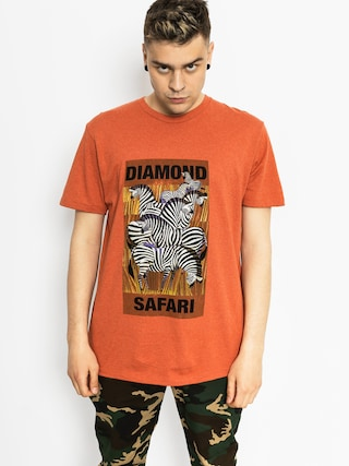 T-shirt Diamond Supply Co. Safari (burnt orange)