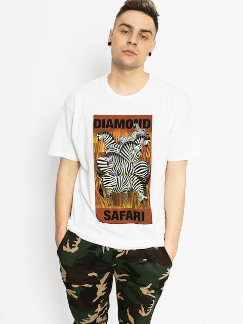 T-shirt Diamond Supply Co. Safari (white)