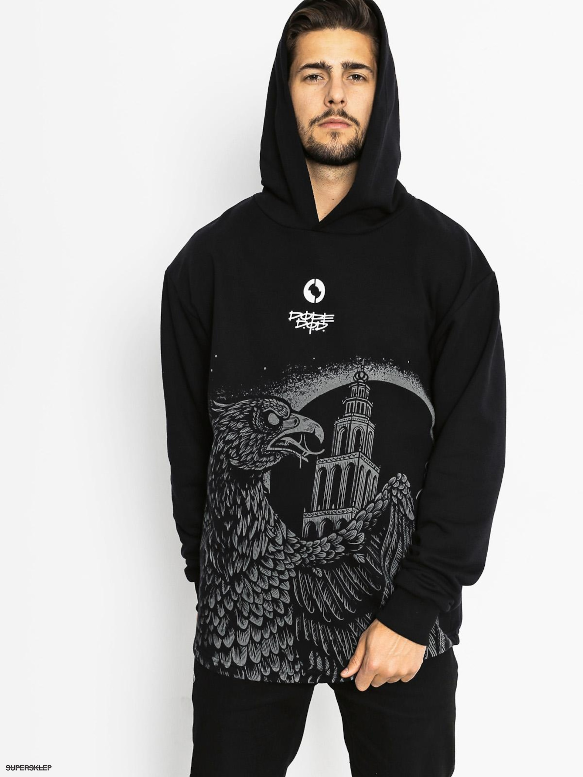 Bluza z kapturem Diamante Wear Eagle HD (black)