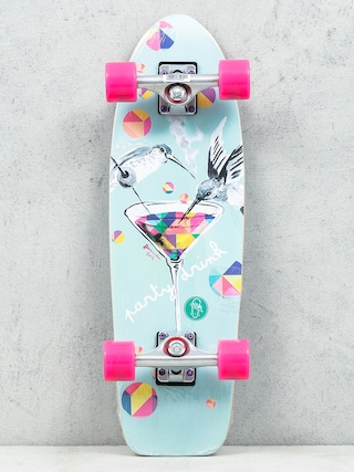 Deskorolka cruiser Fish Skateboards Party (silver/magenta)