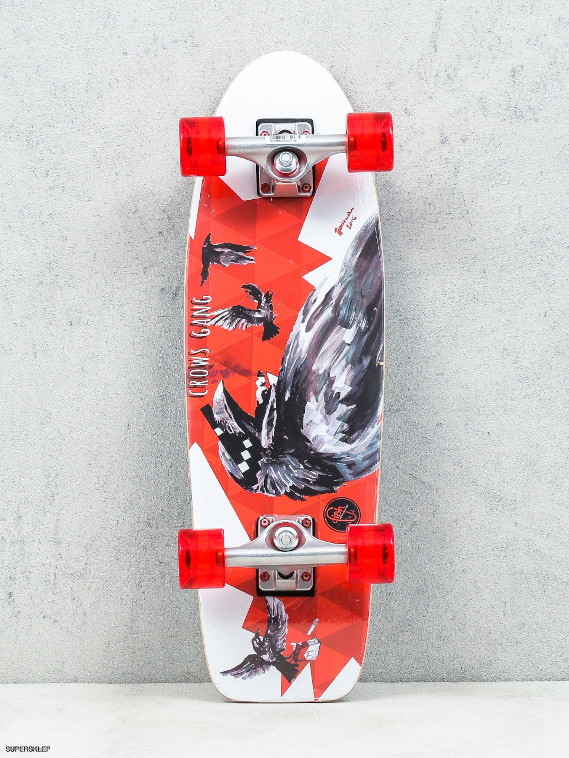 Deskorolka cruiser Fish Skateboards Crow