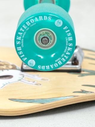 Deskorolka cruiser Fish Skateboards Seadragon (silver/green transparent)