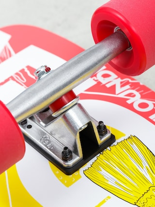 Deskorolka cruiser Fish Skateboards Flounder (silver/red)