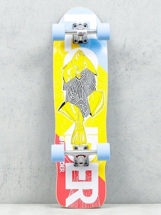 Deskorolka cruiser Fish Skateboards Flounder (silver/blue)