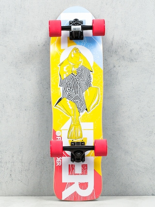 Deskorolka cruiser Fish Skateboards Flounder (black/red)